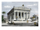 Temple of Poseidon at Paestum, an Ancient Greek Colony in Southern Italy Giclee Print