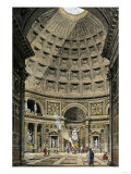 Interior of the Pantheon in Ancient Rome Giclee Print
