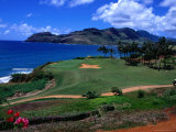 Golf Course Overlooking the Picturesque Hanamaulu Bay Photographic Print by Christina Lease