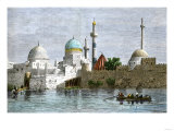 View of Mosul, Iraq, from the Tigris River, 1800s Giclee Print