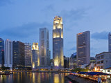 Boat Quay and City Buildings Photographic Print by Richard I'Anson