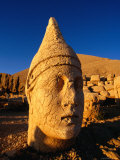 Earthquake Damaged Head of Heracles at Nemrut Dagi Photographic Print by Andrew Burke