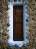 Detail of a Shuttered Window of the Whimsically Designed House by Antoni Gaudi Photographic Print by Martin Hughes