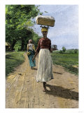 Jamaica Woman on Her Way to Market, 1890s Giclee Print