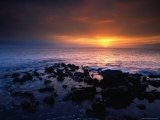 Sunset over the Pacific Ocean from Near Mala Wharf, Lahaina, Maui Photographic Print by Karl Lehmann
