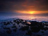 Sunset over the Pacific Ocean from Near Mala Wharf, Lahaina, Maui Photographic Print by Karl Lehmann