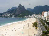 Ipanema Beach from Hotel Fasano Rooftop Photographic Print by Holger Leue