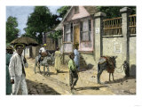 Townspeople on a Jamaica Street, 1890s Giclee Print