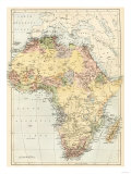 Map of Africa in the 1870s Giclee Print