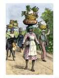 Native People on their Way to Market in Kingston, Jamaica, c.1890 Giclee Print