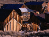 Cluster of Buildings, Ghost Town of Bodie, Eastern Sierra Nevada Photographic Print by Nicholas Pavloff