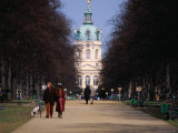 Tree Lined Path to Charlottenburg Palace's Central Domed Tower, Circa 1812 Photographic Print by David Peevers