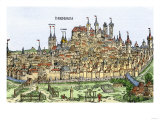 Medieval Walled City of Nuremberg, Germany, 1400s Giclee Print