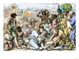 King Solomon's Ships Unloading Goods to Trade with Phoenicians Giclee Print