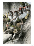 Greeks under Leonidas Holding Off the Persian Invasion at Thermopylae, 480 Bc Giclee Print