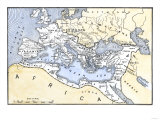 Map Showing the Extent of the Roman Empire Reproduction procédé giclée