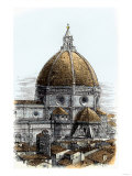 Brunelleschi's Dome of the Santa Maria Del Fiore Cathedral in Florence, Italy, Built in the 1400s Giclee Print