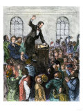 Debate Between Abraham Lincoln and Stephen Douglas, Campaigning for Office of US Senator, Illinois Giclee Print
