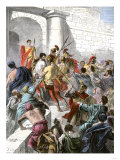 Apostle Paul Arrested in Jerusalem and Taken before the Roman Authorities Giclee Print