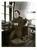 Bacteriologist Elie Metchnikoff in His Laboratory Giclee Print