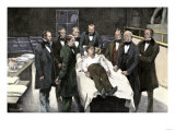 First Public Demonstration of Surgical Anesthesia, Massachusetts General Hospital, Boston, 1846 Giclee Print