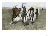 Plains Indians Horse-Racing, 1800s Giclee Print