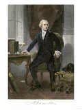 Alexander Hamilton at His Desk, Full Portrait, with Autograph Giclee Print