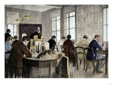 Ernst Haeckel Teaching in His Laboratory at Jena University, Germany Giclee Print