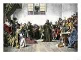 Martin Luther Defending His Views at the Diet of Worms, 1521 Giclee Print