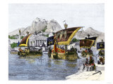 Jason's Ship Argo Leaving Ancient Corinth in the Quest for the Golden Fleece Giclee Print