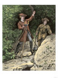 Young George Washington Working as a Surveyor in Virginia Giclee Print