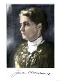 Jane Addams, with Her Signature, Giclee Print