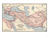 Map of the Empire of Alexander the Great in 323 Bc Impressão giclée