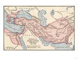 Mapa de Empire de Alexander Great en 323 Bc Lámina giclée
