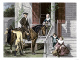 George Washington and His Family at Mount Vernon Giclee Print