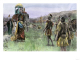 King Porus of India Surrenders to Alexander the Great, 326 Bc Giclee Print