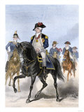 Baron Von Steuben on Horseback with Other Continental Army Officers at Valley Forge Giclee Print