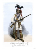 Billy Bowlegs, Chief of the Eastern Seminole Tribe, 1850s, with His Signature Giclee Print