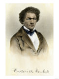 Frederick Douglass as a Young Man, with His Autograph Giclee Print