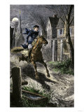 Paul Revere's Ride to Awaken the Minutemen of Lexington, Massachusetts, April 19, 1775 Giclee Print