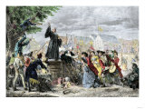 George Whitefield Preaching in Moorfields, London, 1742 Giclee Print
