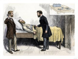 Alexander Graham Bell and Associate Using Induction to Locate the Bullet in President Garfield Giclee Print