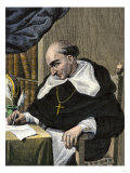 Bartolome De Las Casas, Spanish Missionary and New World Historian Giclée-trykk