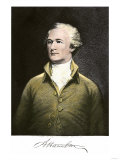 Alexander Hamilton, with His Autograph Giclee Print