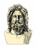 Roman Jupiter, or Zeus in Greek Mythology, God of the Sky and of Laws Giclee Print