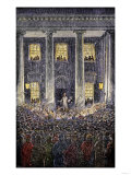 President Lincoln's Last Speech, Delivered to Crowds Outside the White House, April 13, 1865 Giclee Print