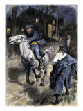 Paul Revere Alerting Inhabitants Along the Road to Lexington, 1775 Giclee Print