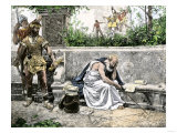 Arrest of Archimedes, Leading to His Death Giclee Print