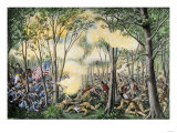 Battle of Tippecanoe, in Which General William Henry Harrison Defeated Tecumseh's Warriors. 1811 Giclee Print