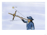 Sailor Sighting on a Star with a Quadrant for Navigation Giclee Print
